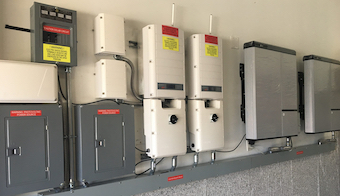 Solar panel low profile
